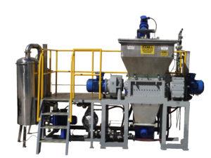 Aerosol shredder system with auger removal
